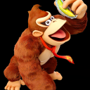 Donkey Kong with frozen banana